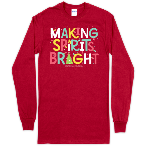 Southern Couture Making Spirits Bright Cherry Red LS