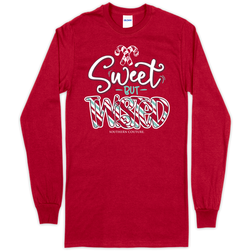 Southern Couture Sweet But Twisted Cherry Red LS