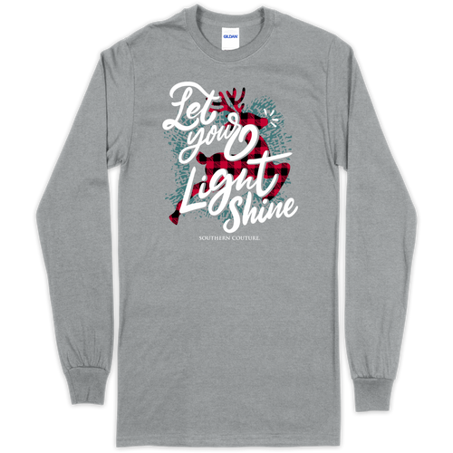 Southern Couture Let Your Light Shine Sport Grey LS