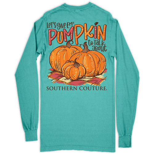 Southern Couture Pumpkin To Talk About Chalky Mint LS