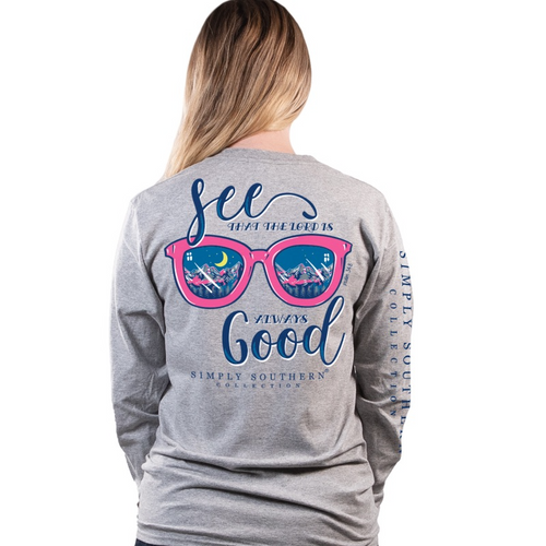 Simply Southern Good Heather Gray LS