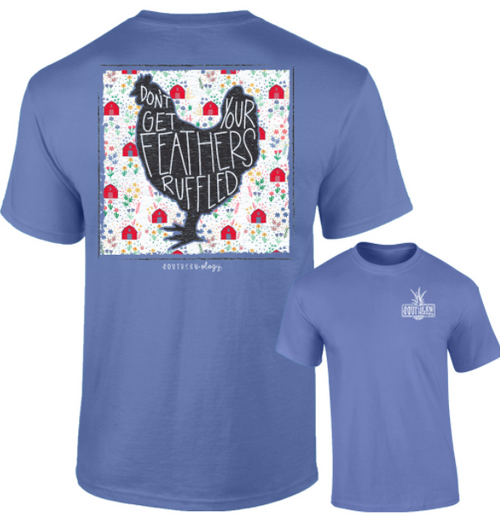 Southernology Feathers Ruffled T-Shirt
