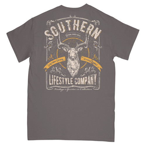 A Southern Lifestyle Co. - Vintage Sportsman Tee Pepper SS