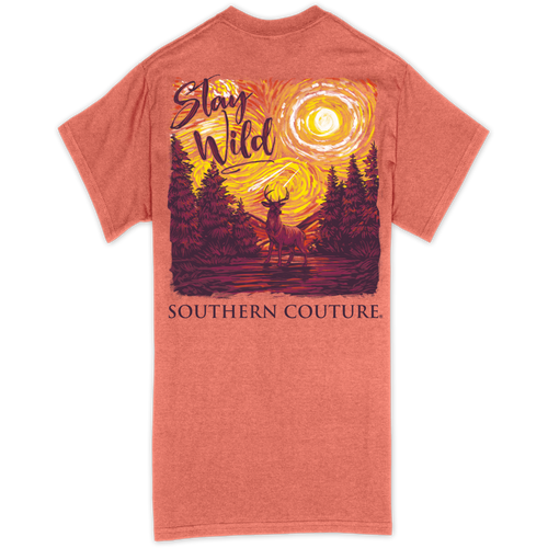 Southern Couture Stay Wild Deer Sunset SS