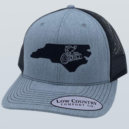 Low Country NC Motorcycle Heather Grey/Black Hat