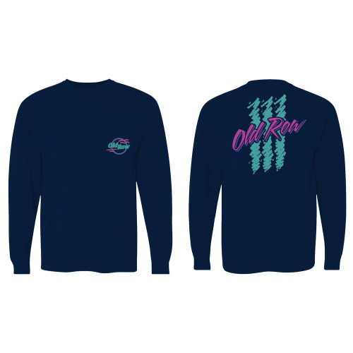 Old Row 90s Lager LS Pocket Tee Navy