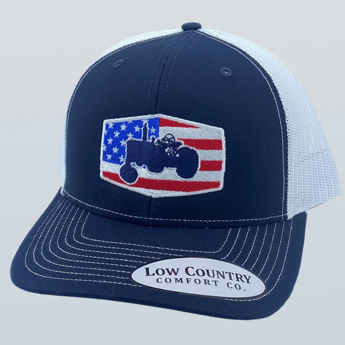 Low Country Comfort Co. Freedom Tractor Navy/White Hat