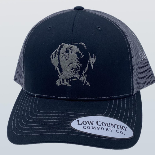 Low Country Comfort Co. Silver Lab Black/Charcoal Hat