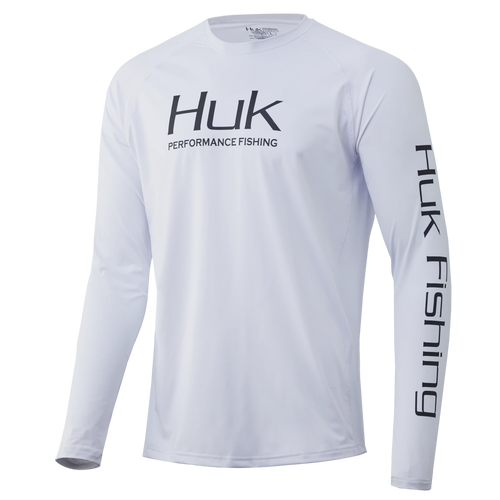 Huk Gear Vented Pursuit White LS