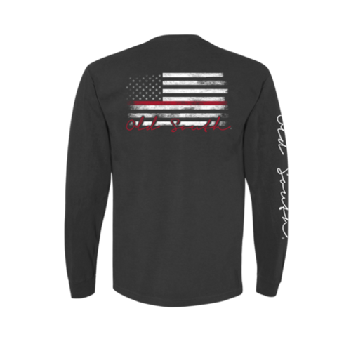 Old South Apparel Red Line Pepper LS