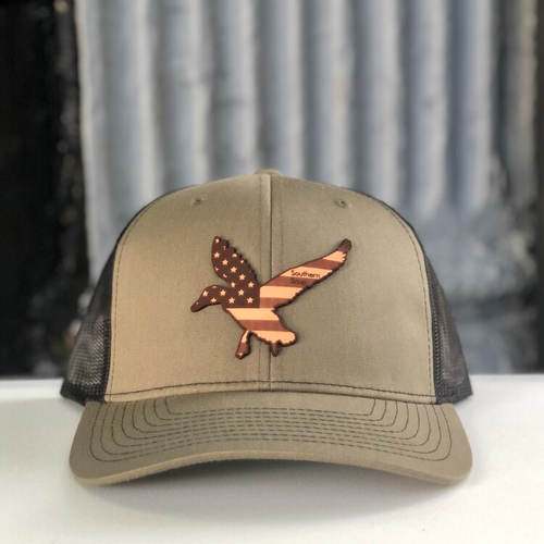 Southern Snap USA Freedom Duck Leather Green/Black Hat