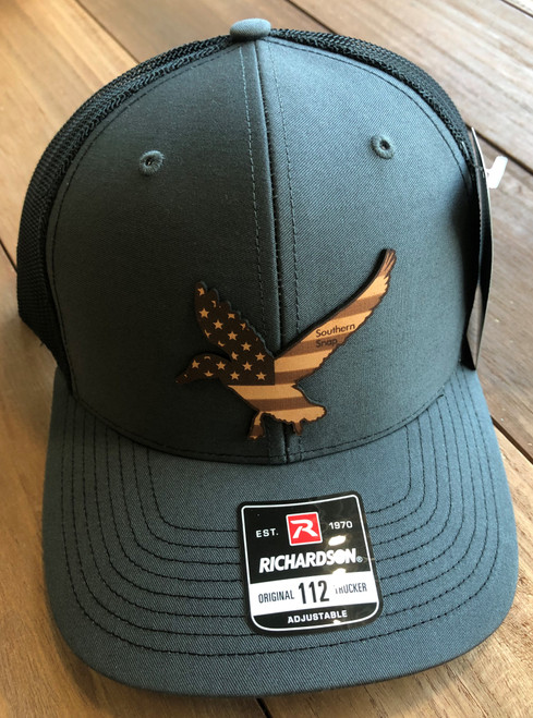 Southern Snap USA Freedom Duck Leather Gray/Black Hat