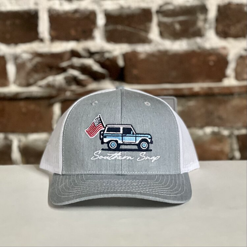 Southern Snap Bronco Heather Grey/White Hat
