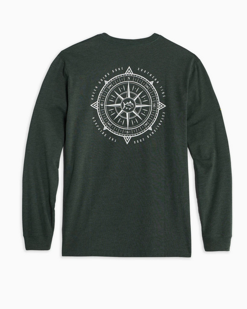 Southern Tide Compass Heather Green LS