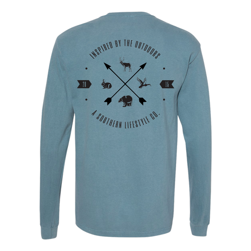 A Southern Lifestyle Co. Point South Ice Blue LS