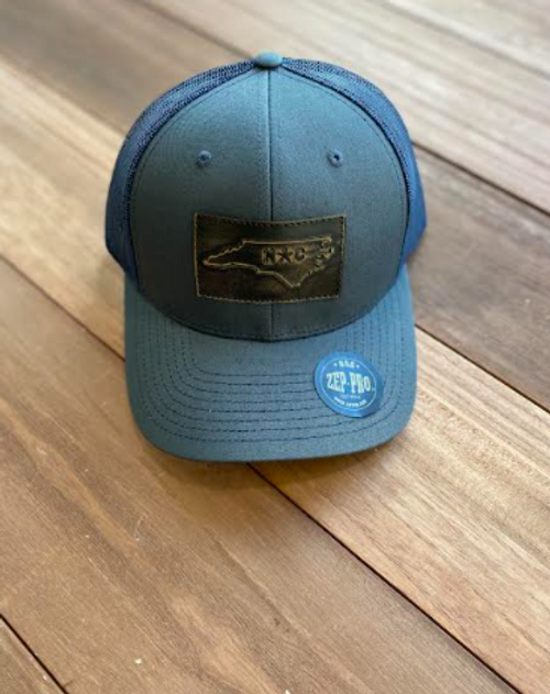 Zep-Pro NC State Rectangular Charcoal/Navy Hat