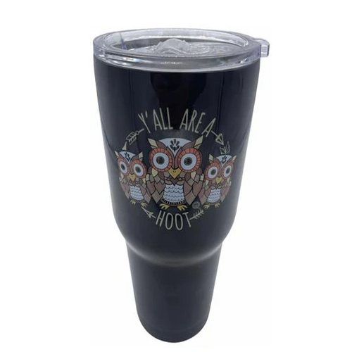 Girlie Girl Originals Y'all Are A Hoot Stainless Steel Tumbler