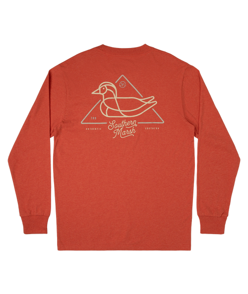 Southern Marsh Warning Duck Washed Red LS
