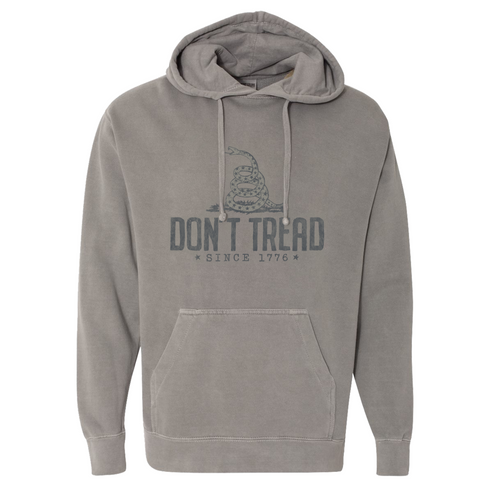 Southern Fried Cotton Don't Tread Hoodie Grey
