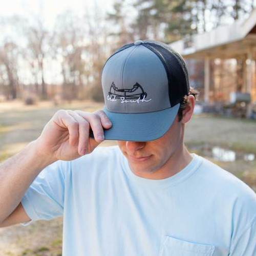 Old South Apparel Bowed Trucker Hat Graphite/Black