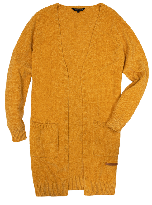 Simply Southern Cardigan Chenille Mustard