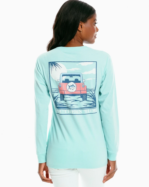 Southern Tide Offroad Sunset Turquoise LS