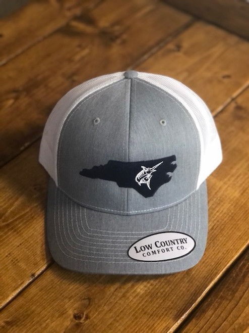 Low Country NC Marlin Heather Grey/White Hat