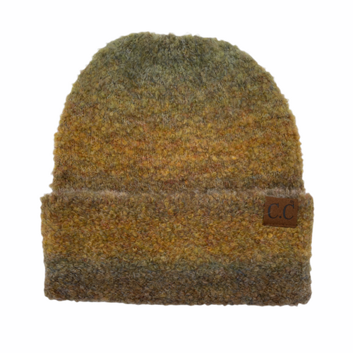 C.C. Multi Ombre Mohair Beanie Taupe