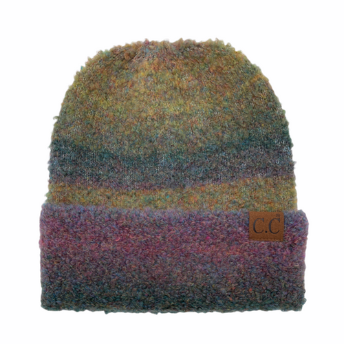 C.C. Multi Ombre Mohair Beanie Forest Mix