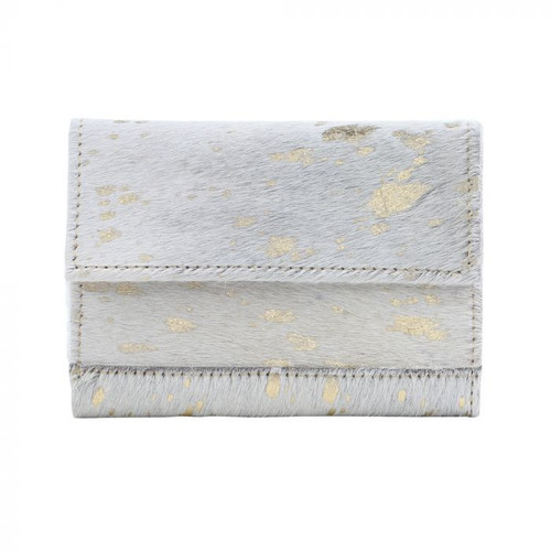 Myra Bag Golden Marble Leather and Hairon Wallet