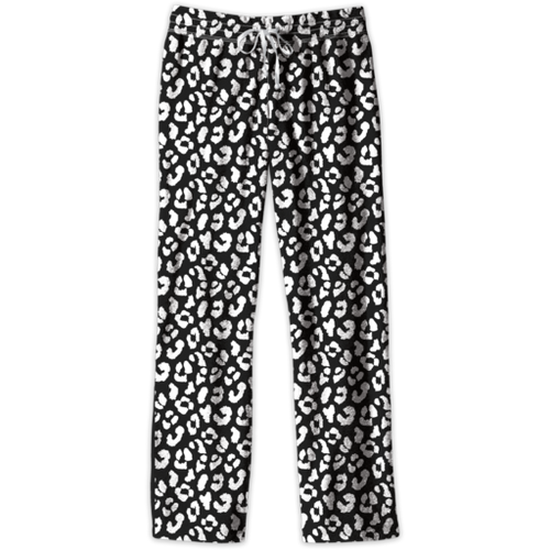 Southern Couture Lounge Pants Black/White Leopard