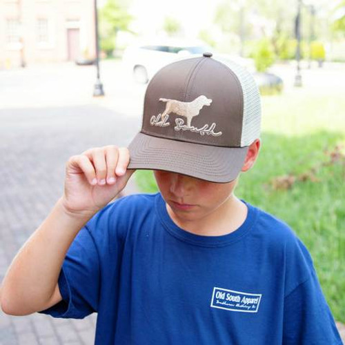 Old South Apparel Youth Trucker Hat Labrador Brown/Khaki