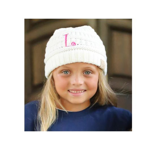 C.C. Youth Initial Beanies