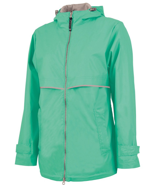 Charles River Monogrammed Raincoat Mint