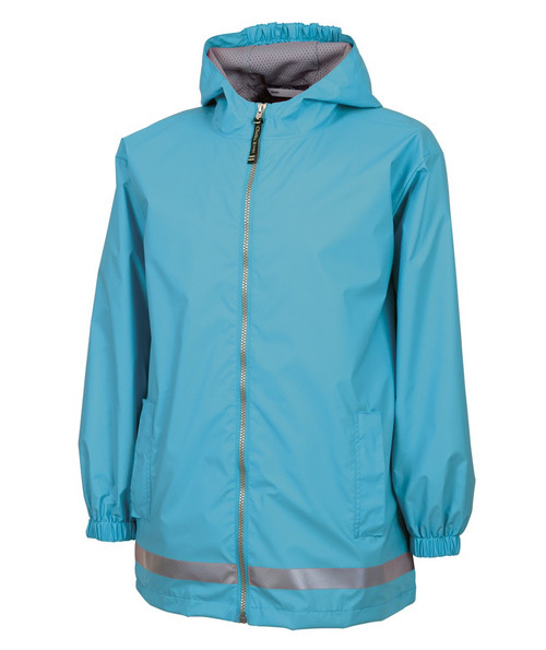 Charles River Monogrammed YOUTH  Raincoat Wave