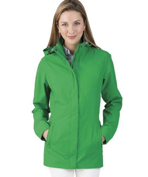 Charles River Monogrammed Logan Jacket Kelly Green