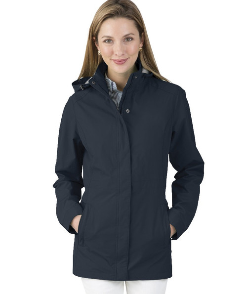 Charles River Monogrammed Logan Raincoat Navy