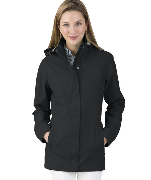 Charles River Monogrammed Logan Jacket Black