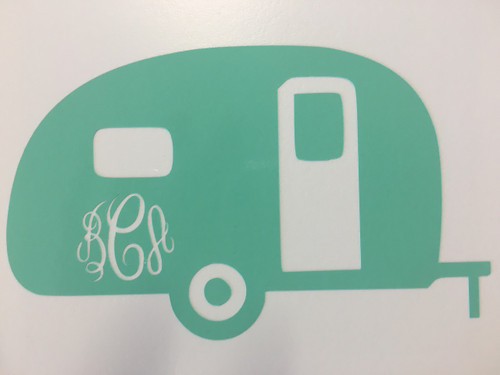 Camper Monogrammed Decal