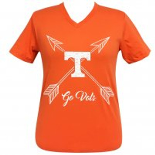 Arrow Go Vols Tennessee V-Neck