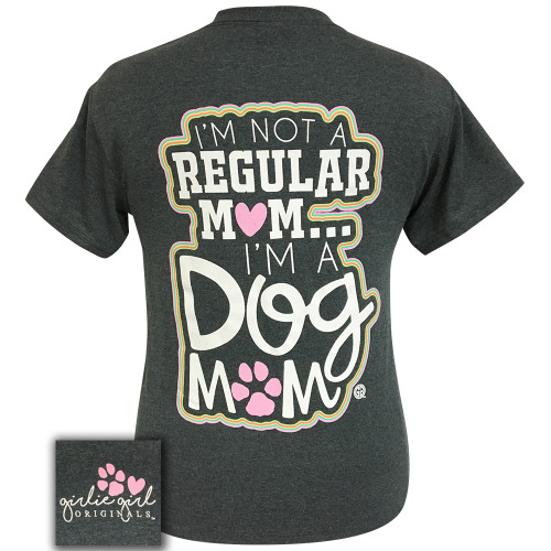 Girlie Girl Originals Dog Mom Dark Heather