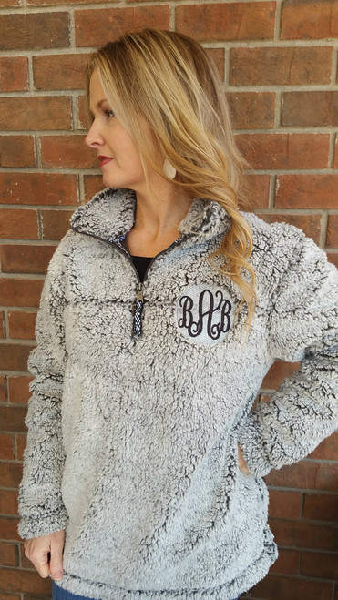 Monogrammed Sherpa Pullovers