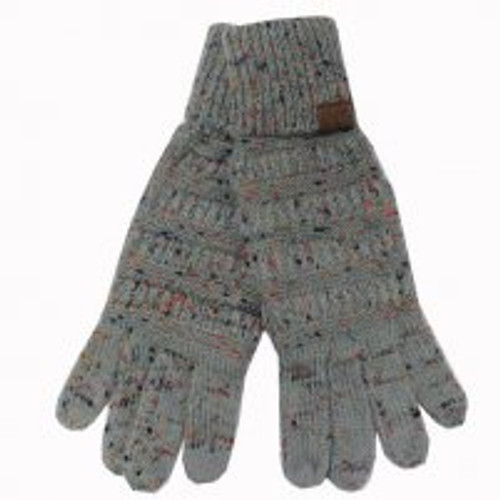 C.C. Brand Dark Grey Melange Speckled Gloves