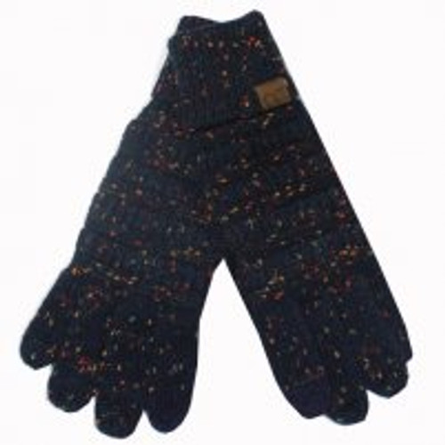 C.C. Brand Navy Speckled Gloves