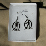 Skier Earrings