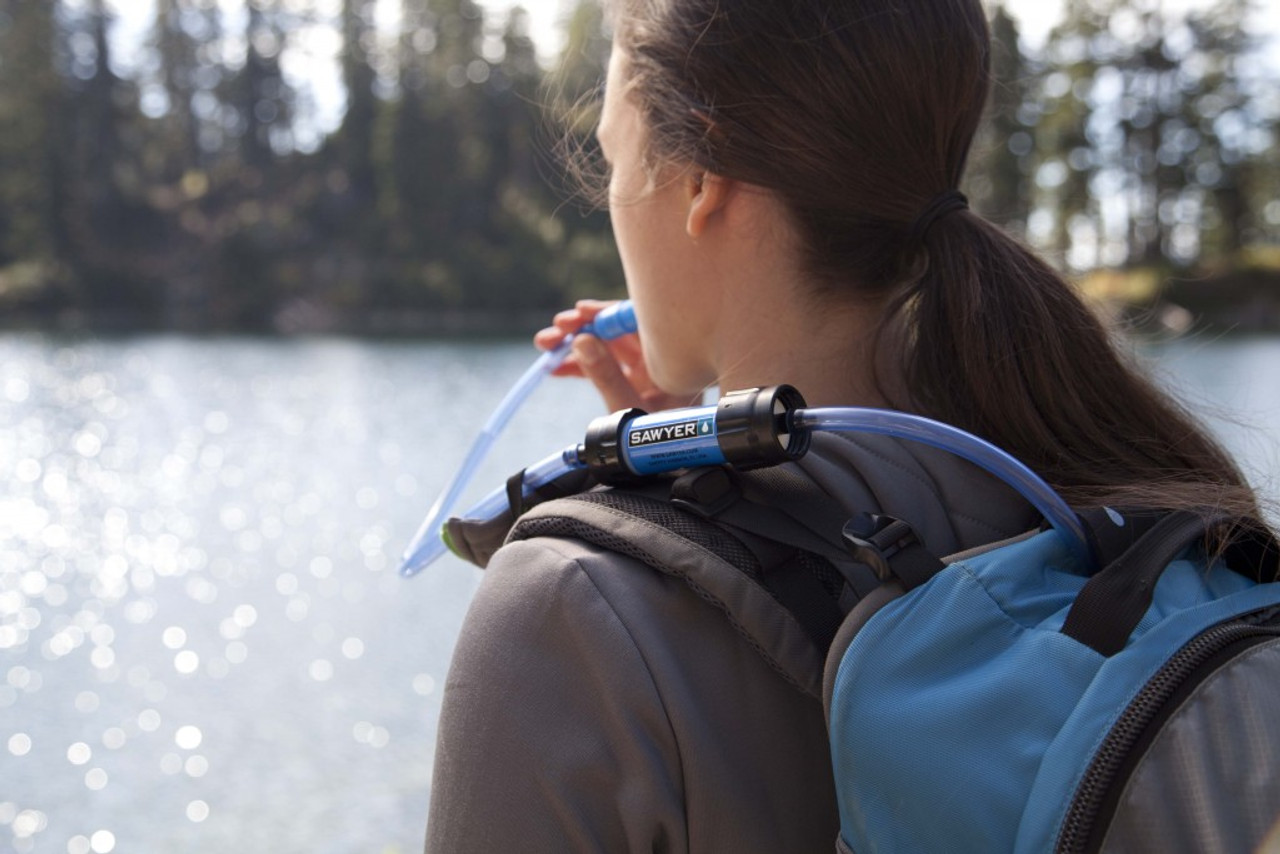 Travel Mini Water Filtration System Sawyer Filters Up To 100,000 Gallons Camping