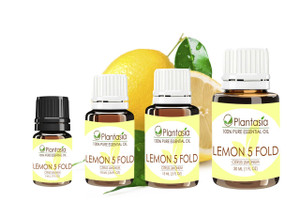 Lemon 5 Fold Essential Oil 100% Pure and Natural Aromatherapy
