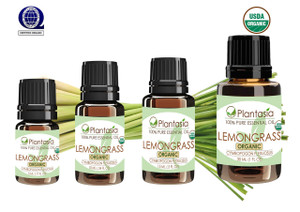 Lemongrass Organic Essential Oil 100% Pure and Natural Therapeutic Grade Aromatherapy