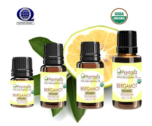 Bergamot Organic Essential Oil 100% Pure and Natural Therapeutic Grade Aromatherapy