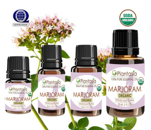 Marjoram Organic Essential Oil 100% Pure and Natural Therapeutic Grade Aromatherapy